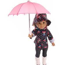 New Style Mini <b>Umbrella Rain Gear</b> For 18 Inch American baby Doll ...