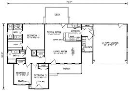 Types home plans sq ftRanch style house plans one story home design  square feet