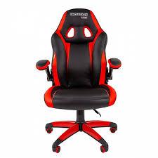 <b>Кресло</b> игровое <b>Chairman game 15</b> черный+красный ...