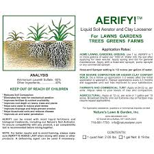organic liquid fertilizer liquid aeration solution natures aerify liquid lawn and soil aeration