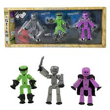 <b>Игрушка 3 фигурки Stikbot</b> Off the Grid, Raptus