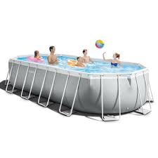 The Home Store - <b>Intex Prism Frame Oval</b> Pool Set with... | Facebook