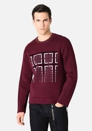sweater in heavy jacquard stretch viscose with <b>diamonds</b>
