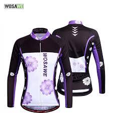 <b>WOSAWE</b> Women Long Sleeve Bycle <b>Cycling Jersey</b> Mountain ...