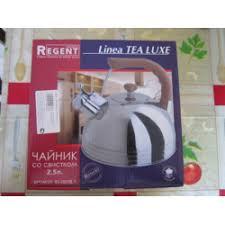 <b>Чайник</b> из нержавеющей стали со свистком <b>Regent Inox</b> Linea ...