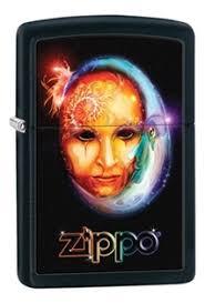<b>Зажигалка</b> бензиновая <b>Venetian Mask</b> (черная, матовая) от <b>Zippo</b> ...