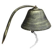 Over Sized Vintage <b>Cast Iron Doorbell</b> Bells Dinner Bells Hanging ...