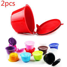 2pcs Filled <b>Capsule Coffee Filter</b> Repeated Use of <b>Capsule Shell</b> ...
