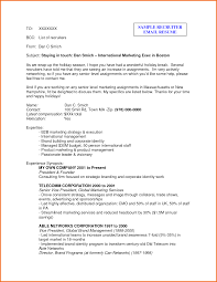 example email to recruiter executive resume template resume sample recruiter email by 3pblqrl