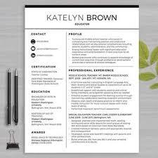 ideas about teacher resumes on pinterest   letter for    teacher resume template for ms word     educator resume writing guide