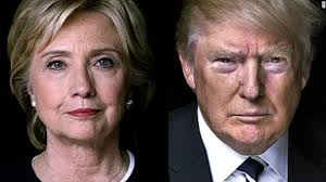 Image result for Picture of both Clinton and Trump
