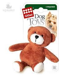 Купить <b>Игрушка для собак GiGwi</b> медведь с пищалкой, 10 см с ...