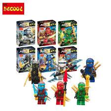 <b>Decool 6pcs</b>/lot 10059-10064 2018 for lego Ninjagoes <b>Toy</b> Kai Cole ...