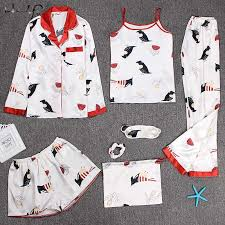 <b>Пижамы</b> на бретелях, <b>женские пижамы</b>, 7 шт., розовые <b>пижамы</b> ...