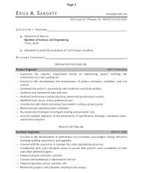 professionally written engineer resume example engineer resume example