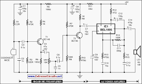schematics  circuits  electronics design  electronic circuits    condenser mic audio amplifier circuit schematic