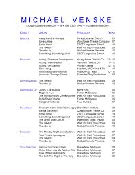 senior it recruiter resume sample customer service resume senior it recruiter resume senior it manager resume example technical resume template michael venske technical theatre