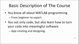 matlab from a to z from programming to app designing udemy matlab from a to z from programming to app designing udemy