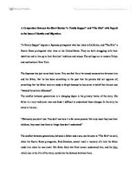 a comparison between the short stories a family supper and the  page  zoom in
