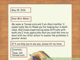 Ways to Write a Letter to Your Child     s Teacher   wikiHow Image titled Write a Letter to Your Child     s Teacher Step