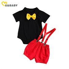 Ma&Baby <b>0 24M Summer Infant</b> Newborn Baby Boy Gentleman Suit ...