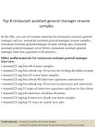 toprestaurantassistantgeneralmanagerresumesamples lva app thumbnail jpg cb