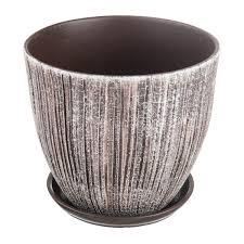<b>Горшок</b> цветочный «Меланж» серый 8.5 л 260 мм, <b>керамика, с</b> ...