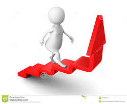 d people climb up the ladder on the arrow stock photo image white 3d man steps up on success ladder arrow stock photography