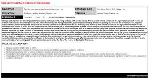 program coordinator resumes and cover letters 2 program coordinator