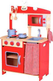 play kit wooden red pretty lelin wooden wood childrens pretend play kitchen cooking food p