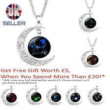 Celestial & Horoscope Glass <b>Charm</b> Costume Necklaces & Pendants