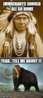 Native American vs Woolly Mammoth re: Migration - Imgflip via Relatably.com