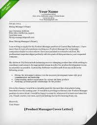 product manager and project manager cover letter samples   resume    product manager cover letter sample