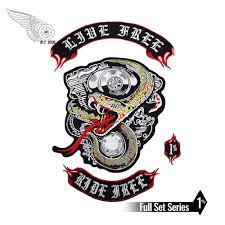 NEW ARRIVAL <b>LIVE FREE RIDE</b> FREE EMBROIDERY PATCH ...