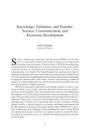 knowledge validation and transfer science communication and page 5