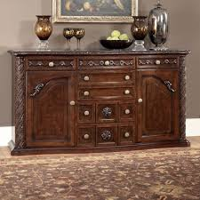 furniture t north shore: millennium north shore traditional server with ornate carved details