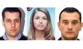 Daylight robbers: (from left) suspects in the Dubai robbery Dusko Poznan, Bojana Mitic and Milan Ljepoja. Photograph: Observer - Mug-shots-008