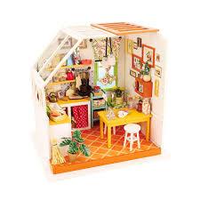 """Интерьер в миниатюре """"DIY House"""" """"Кухня"""" 19 x 16.5 x 18.7 см ..."""