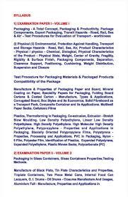 n institute of packaging entrance exam syllabus  pg entrance exam of n institute of packaging