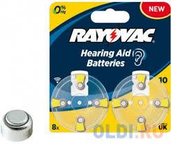 <b>Батарейки Varta Rayovac acoustic</b> Type 10 8 шт Hearing Aid PR70 ...