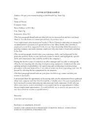 Resume Cover Letter Free Cover Letter Example in Cover Letters