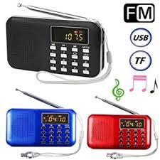 <b>Mini</b> Portable LCD Digital FM Radio Speaker USB Micro SD <b>TF Card</b> ...