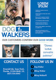 a flyer template gallery animated whiteboard video ads dog walker a159