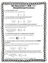 Simplifying Fractions Worksheet and TemplateSimplifying Fractions Worksheet Printable