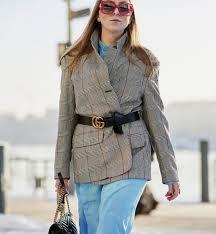Модный лайфхак: ремень, чтобы перевязывать <b>им</b> пиджаки ...