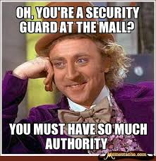Oh, You're a security guard at the mall? - Memestache via Relatably.com