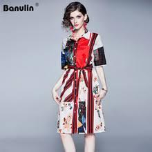 <b>banulin</b> runway <b>designer</b> summer autumn women vintage print long ...