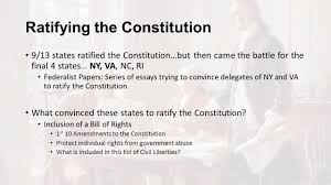 establishing a new nation from the articles of confederation to 23 ratifying