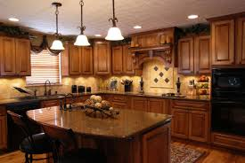 oak kitchen cabinets clean