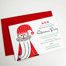 personalised father christmas party invitations by moonglow art personalised father christmas party invitations